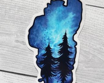 Lake Tahoe Vinyl Sticker Free Shipping Trees Nature Travel Waterproof Nevada California