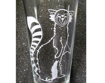 Avatar Pabu Fire Ferret etched pint glass tumbler