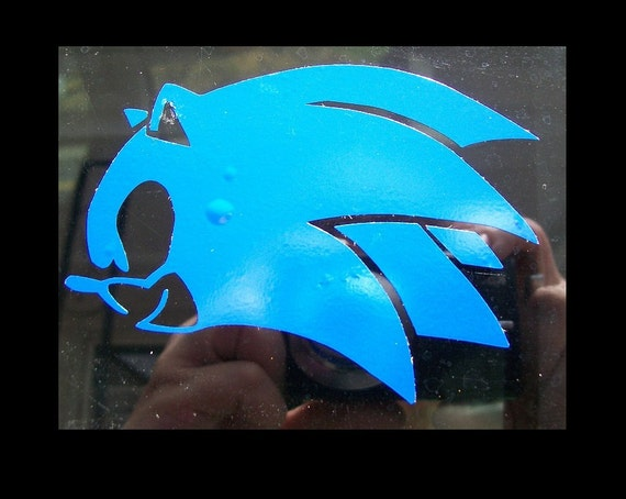 Sonic The Hedgehog Vinyl Car Decal Etsy