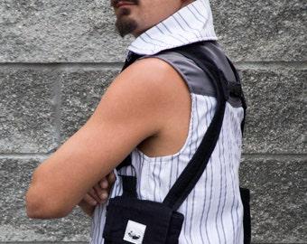 Black Steampunk Shoulder Holster Bags