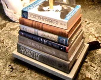 DOROTHY PARKER Stacked Book Lamp Limited Editions Designer New Hardware Many More!