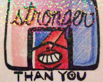 Steven Universe Garnet STRONGER THAN YOU Large Holographic Statement Sticker