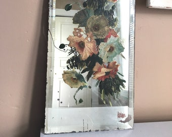 Antique Hand Painted Mirror