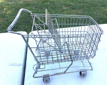 Small Vintage Shopping Cart Basket