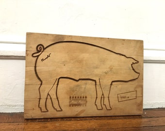 Old Moormans Advertising Pig Cutting Board