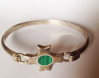 Mid Century Modern Signed Mexican Sterling Bracelet