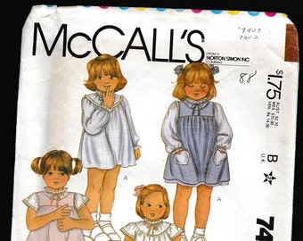 McCall's 7425 Toddlers' and Children's Dress and Jumper From a Norman Simon Inc. Company