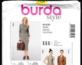 Burda Style 7128 Fitted Dress for Wool's
