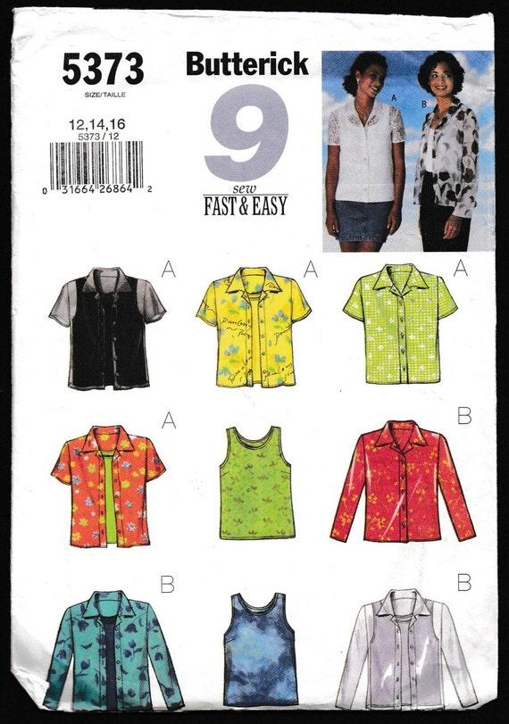 Butterick 5373 9 coser rápido y fácil de Misses-Petite de | Etsy