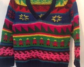 VintageToddler's South American V-neck Sweater