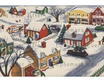 Outstanding Snowy Town Etsy Interior Design Ideas Skatsoteloinfo