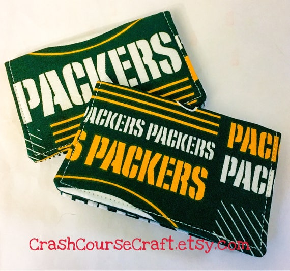 Green bay packers team wallet nfl business card holder reheart Gallery