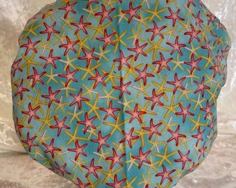 Starfish all over Bouffant Style Surgical Hat