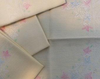 Vintage linen ...  retro kitsch set of 4 Cloth tea napkins   ...