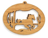 Wild West Mustang Ornament - Made in the USA with sustainably harvested wood! - Timber Green Woods - Made in the USA!