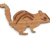 Chipmunk Ornament - Made in the USA with sustainably harvested wood! - Timber Green Woods.