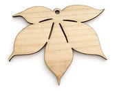 Buckeye Leaf - Laser Cut Wood   Timber Green Woods Sustainable Forestry Products