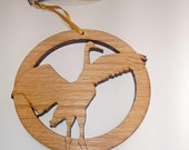 Wood Whooping Crane Ornament - Circle of Life Ornament Collection by Timber Green Woods . Sustainable Harvest Wisconsin Wood