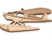 Float Plane Ornament - Made in the USA with sustainably harvested wood! - Timber Green Woods - Made in the USA!
