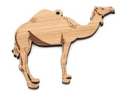 Camel Ornament  - Made in the USA with sustainably harvested wood! - Timber Green Woods.