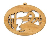 Rattlesnake Ornament - Wild West Collection-Made in the USA with sustainably harvested wood! - Timber Green Woods.