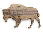 Buffalo Ornament- Timber Green Woods. Sustainable Harvest Wood. Made in the USA!