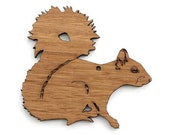 Squirrel Ornament  - Made in the USA with sustainably harvested wood! - Timber Green Woods.