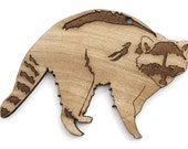 Raccoon Ornament - Made in the USA with sustainably harvested wood! - Timber Green Woods.
