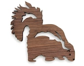 Skunk Ornament - Made in the USA with sustainably harvested wood! - Timber Green Woods.