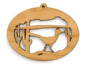 Road Runner Bird Ornament - Wild West Collection-Made in the USA with sustainably harvested wood! - Timber Green Woods.