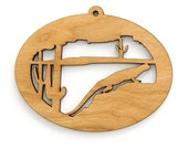 Desert Lizard Ornament  - Wild West Collection-Made in the USA with sustainably harvested wood! - Timber Green Woods.