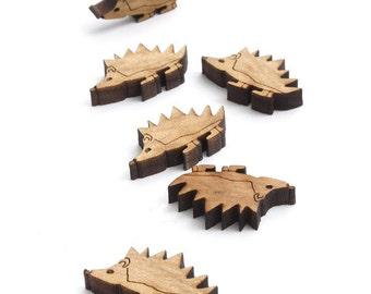 "XS Hedgehog Mini Charms - 1"" tamaño - láser corta madera - Etsy Itsies"