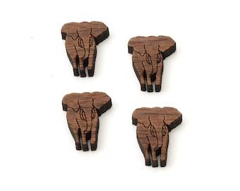 Encantos de elefante - tamaño 3/4 - corte madera Etsy Itsies por madera verde bosque