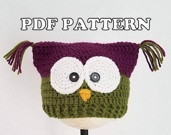 Classy Crochet Owl + Kitty Hat