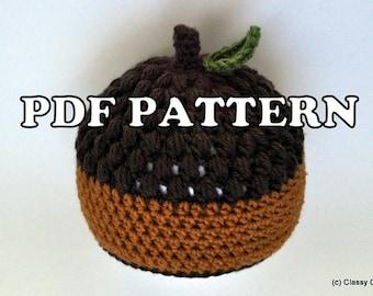PDF PATTERN - Crochet Awesome Acorn Hat