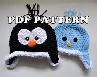 PDF PATTERN - Crochet Penguin Birdy Hat