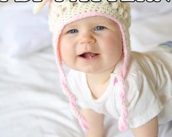 PDF PATTERN - Little Lamb Crochet Hat