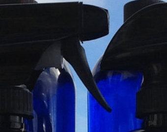 Cobalt Blue Glass Bottle w/Trigger Sprayer ECO Refill-16 oz