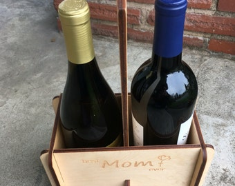 Wine Gift for Mom, Mom Birthday Gift, Wine Gifts for Her, Best Mom Ever, Wine Caddy, Wine Gift