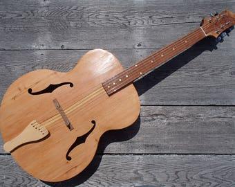 Cherry Archtop Guitar, handmade
