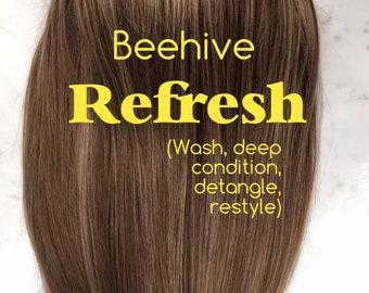 Beehive Refresh - wash/restyle Beehive Cheer Hair