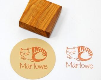 Custom Hedgehogs in Love  Olive Wood Stamp