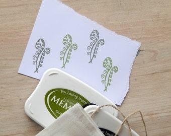Fiddlehead Fern Olive Wood Stamp