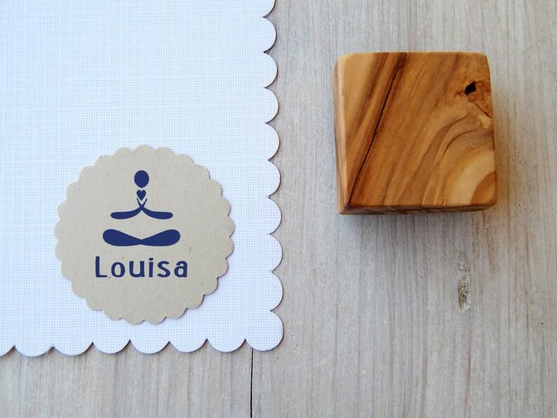 Custom I Heart Yoga Olive Wood Stamp