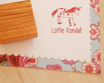 Mythical Unicorn - Custom Stamp - Name Stamp - Personalised Stamp - Unicorn Stamper - Wooden Stamp