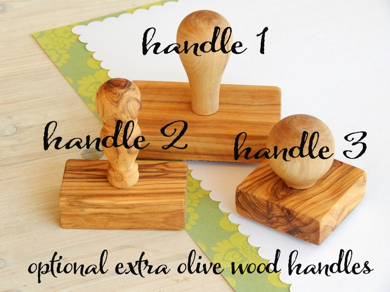 Small Handwritten Font Olive Wood Business Stamp Your Web Address