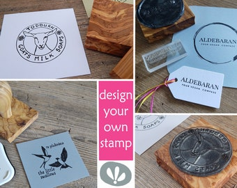 Made To Order Olive Wood Stamp With Your Own Design - Make A Stamp - My Logo - My Design - Make Your Own Stamp