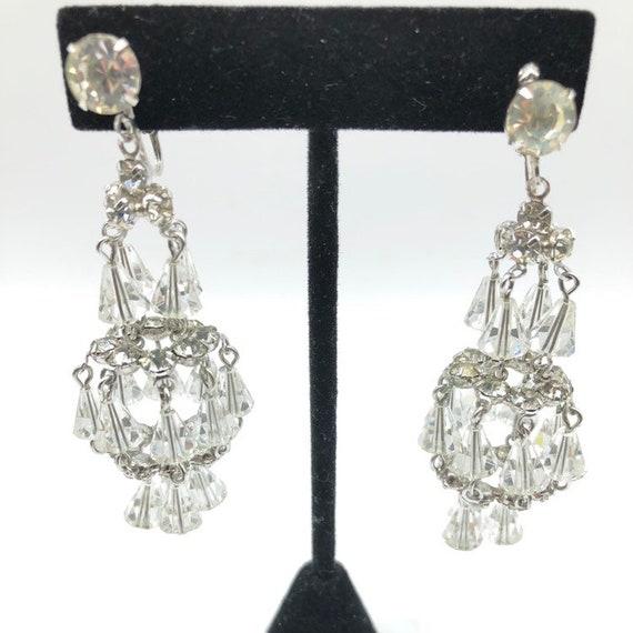 Vintage Hattie Carnegie Chandelier Earrings