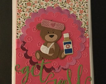 Get Well Accident - Fall - Cast - Greeting Card - Cute!