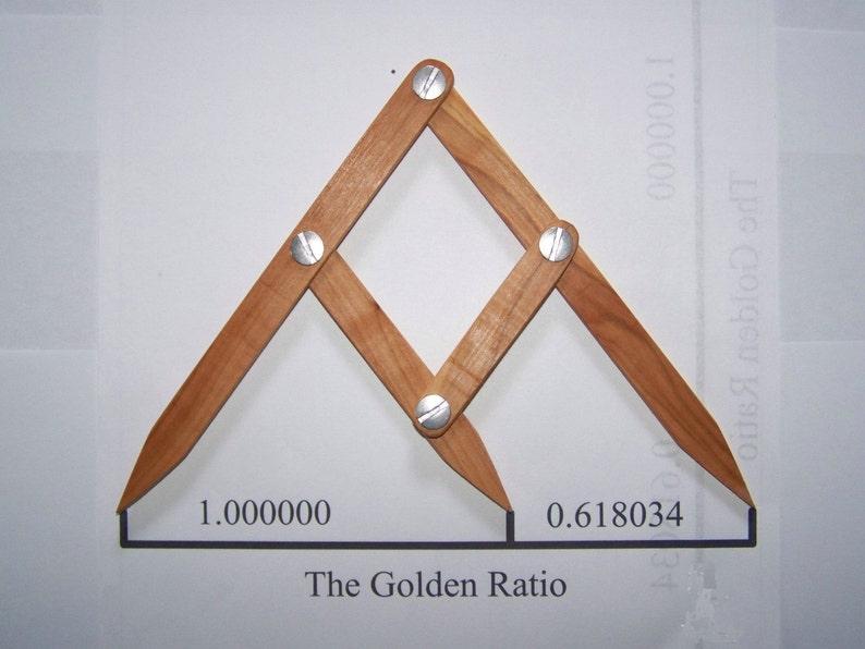 Fibonacci Gauge Arts/Crafts Golden Ratio Tool PHI Caliper image 0